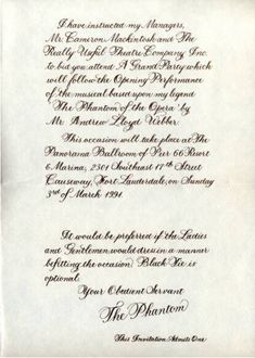 2ec7f44907e4190c6f7f7446fabc93a4 phantom opera teatre phantom of the opera wedding invitations wedding newsday,Phantom Of The Opera Invitations