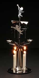 Swedish Candles - Christmas > Swedish Christmas Angel Chimes - silver Swedish Angel Chimes--traditionally seen in brass-- now come in silver, too Swedish