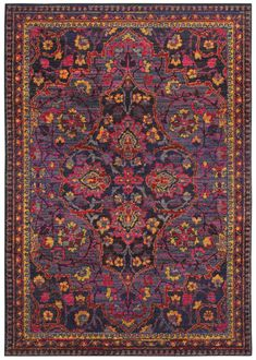 Oriental Weavers Bohemian Area Rug - This Navy - Pink rug would make a wonderful addition to any home. Learn why others select to shop with RugStudio Wall Carpet, Bedroom Carpet, Grey Carpet, Modern Carpet, Carpet Decor, Stair Carpet, Oriental, Floral Rug, Pink Rug