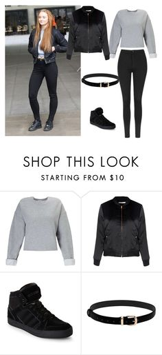 """Celebrity style: Sophie Turner"" by tamara-wolfram ❤ liked on Polyvore featuring Miss Selfridge, Glamorous, adidas and Topshop"