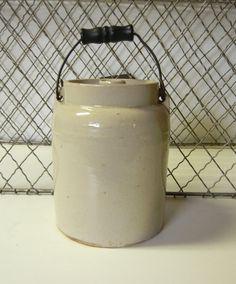 Antique Stoneware Canning Preserve Jar Farm House by Izzyandme, $24.00