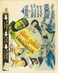 Bud Abbott Lou Costello Meet Frankenstein 11x17 Movie Poster (1948)