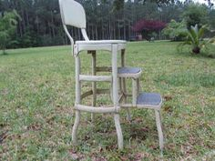 Vintage Metal Step Stoolstep chairStool Step by KarensChicNShabby, $98.00