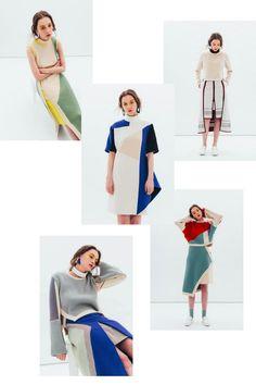 Moon J: knitwear. Fashion Brands, High Fashion, Fashion Show, Womens Fashion, Geometric Fashion, London College Of Fashion, Fru Fru, Fashion Details, Fashion Design