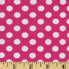 Spot On Medium Dot Hot Pink from @fabricdotcom  Designed by Studio RK for Robert Kaufman Fabrics, this fabric is perfect for quilting, apparel and home décor accents. Colors include white on a hot pink background.
