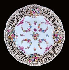 Dresden Hand Painted Plate