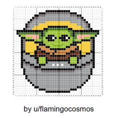 Who Can Resist this Baby Yoda Pattern? - Melty Beads - Who Can Resist this Baby Yoda Pattern? Who Can Resist this Baby Yoda Pattern? Cross Stitching, Cross Stitch Embroidery, Hand Embroidery, Cross Stitch Charts, Cross Stitch Designs, Cross Stitch Kids, Pokemon Cross Stitch, Geek Cross Stitch, Mini Cross Stitch