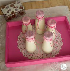 Coisas simples são a receita ...: Iogurte líquido de coco e ananás