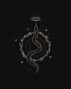 Witch Aesthetic, Aesthetic Art, Cute Tattoos, Small Tattoos, Tatoos, Snake Art, Slytherin Aesthetic, Snake Tattoo, Tattoo Inspiration