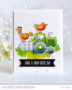 Farm-tastic, Farm Fence Die-namics, Farm-tastic Die-namics, Pierced Fishtail Flags STAX Die-namics - Kay Miller  #mftstamps