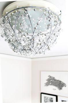 DIY Chandelier | http://www.amandakatherine.com/diy-chandelier/