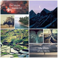 Novel Aesthetic. Setting: Tropical Islands vs the cold mountains.