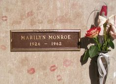 Marilyn Monroe  Marilyn Monroe is buried in Westwood Village Memorial Park Cemetery in Los Angeles, along with a who's who of celebrities such as Burt Lancaster, Dean Martin and Don Knotts.