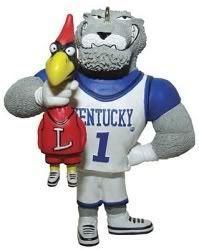 The Kentucky Wildcat holding the Louisville Cardinal!