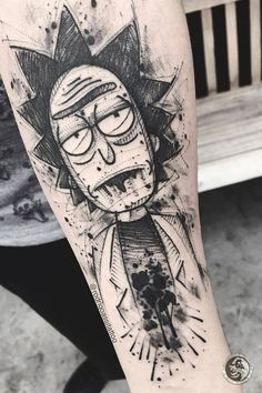 Do you like watching Rick and Morty? Here is the best 30 tattoo designs about Rick and Morty. Dope Tattoos, Funny Tattoos, Cartoon Tattoos, Anime Tattoos, Black Tattoos, Body Art Tattoos, Tattoos For Guys, Sweet Tattoos, Tattoo Sketches