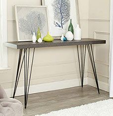 Revamp your dining space or eat-in kitchen with a stylish selection of console tables and sideboards to keep tableware handy. Slim steel and wood silhouettes keeps the look modern while credenzas provide a storage solution for your dining essentials. Style a minimalist design with chic wall art or a vase of fresh flowers for a look your guests will ...