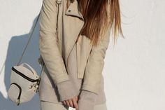 Love this nude perfecto jacket from Zara