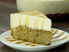 Cheesecake cu blat din banane – un desert fin și foarte aromat. Cheesecakes, Vanilla Cake, Caramel, Desserts, Recipes, Food, Sweets, Sticky Toffee, Tailgate Desserts