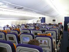 Boeing 747-8 Inaugural Lufthansa Economy Class In-flight