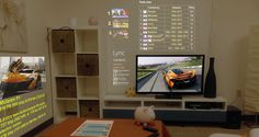 H Microsoft φέρνει ένα νέο concept όπου προσθέτει έξτρα κάμερες, tablets και βιντεοπροβολές ώστε να προβάλει web περιεχόμενο σε τοίχους και τραπέζια.