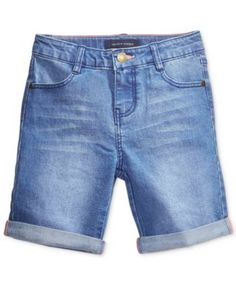 Tommy Hilfiger Denim Bermuda Shorts, Big Girls (7-16) | macys.com