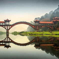 Leshan Giant Buddha bridge - Photography by Edy Petrova This looks like a Moon Bridge. Places To Travel, Places To See, Places Around The World, Around The Worlds, Beautiful World, Beautiful Places, Amazing Places, Beautiful Pictures, Giant Buddha