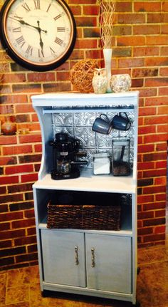 LOVE this idea!!! Coffee station at home! Hand painted Coffee Cart/ Coffee Bar on Etsy, $80.00