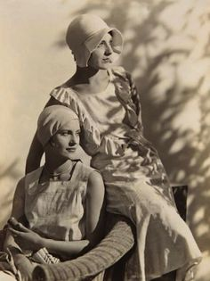 Lee Miller and Agneta Fischer, c1927. They were both fashion models for a time. Lee became a photographer.