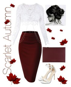 """Scarlet Autumn"" by xmzpoohx ❤ liked on Polyvore featuring Stone_Cold_Fox, Victoria Beckham and Kiki de Montparnasse"