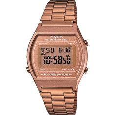Casio Vintage Retro Digital Silver Unisex Day Date Alarm Light Watch for sale online Casio Classic, Black Stainless Steel, Stainless Steel Watch, Stainless Steel Bracelet, Vintage Rose Gold, Vintage Roses, Men's Vintage, Vintage Black, Vintage Style