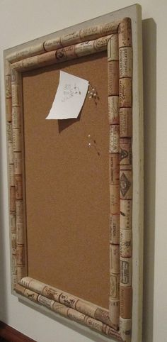 Cork Bulletin Board / Message Board with Repurposed Wine Corks