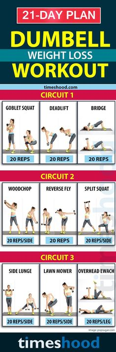 Weightlift Workout for weight loss: Sleek and Strong Dumbbell exercises for 30 minutes in the morning/evening. 21 days weight loss plan. Lose 10  pounds in 3 weeks (diet   workout challenge). Fat burning workout at home. timeshood.com/...