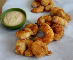Elizabeth's Edible Experience:Pan-Fried Shrimp with Creole Mayo
