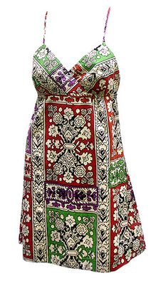 1960's/70's Dress---that's back. With the emphasis on the Middle East and the sub-continent, if you know where some of these things are----run, run, run .