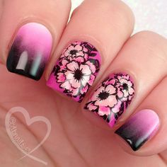 """Flower Theme Nail Art Stamp Template Image Plate This is item number … – Fancy Nails, Pink Nails, Cute Nails, Hair And Nails, My Nails, Stamping Nail Art, Stamping Plates, Nailart, Manicure E Pedicure"