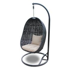 Harmonia Living Nimbus Hanging Basket Chair with Optional Stand - HL-NMBS-CB-2SW-ST