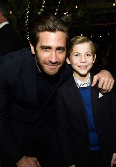 """gyllenhaaldaily: """"Jake Gyllenhaal and Jacob Tremblay attend the Hollywood Foreign Press Association and InStyle celebrate the 75th Anniversary of The Golden Globe Awards at Catch LA on November 15, 2017 in West Hollywood, California. """""""