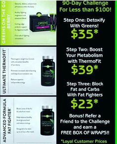 Are YOU up for the challenge?! Right in time for summer- who wants to work on that summer bod?! #ItWorks #triplethreat #greens #thermofit #fatfighters #summerready #workinonthatbikinibod
