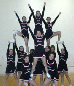 Image result for simple cheer pyramids