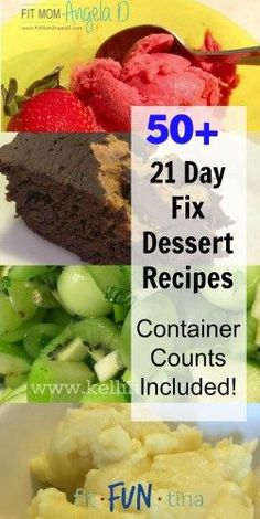 Hello! Is your sweet tooth calling? Answer it with any one of these more than 50 21 Day Fix dessert recipes. For more recipes and 21 Day Fix resources, head to http://www.FitFunTina.com
