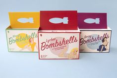 Bombshells packaging by Maria Fontenelle