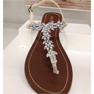 Bridesmaid sandals rhinestone strap