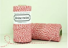 240 Yards Sweetheart Red and Pink Divine Twine by HeyYoYo on Etsy, $14.95