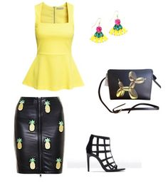 Blouse, earrings,bag H&M Shoes Zara Skirt brownsfashion.com