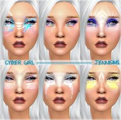 Jenni Sims: Styles Cyber Girl EyeShadow by Jennisims • Sims 4 Downloads