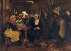 Peder Severin Krøyer, Women of Concarneau, 1879, Oil on canvas
