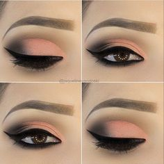 makeup look pink makeup for blue eyes makeup tutorial step by step pictures eyeshadow how to apply is eyeshadow makeup makeup green eyes apply eyeshadow makeup makeup wedding Cute Eye Makeup, Makeup Eye Looks, Eye Makeup Steps, Natural Eye Makeup, Smokey Eye Makeup, Gorgeous Makeup, Skin Makeup, Eyeshadow Makeup, Pretty Makeup
