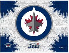 Make a big splash by putting your team alliance a focal point in the room with the Winnipeg Jets Canvas Wall Art. The printed canvas features splashes of the primary team color overlaying a repeat background. The primary team logo sits center on. Nhl Wallpaper, Wall Prints, Canvas Prints, Holland Bar Stool, Small Canvas, Print Logo, Print Pictures, Canvas Wall Art, Graphic Art