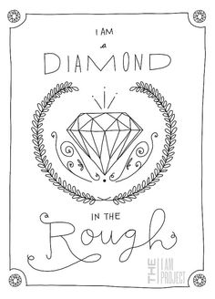 diamond in the rough #typography #illustration #simple