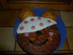 Our Pudsey Cake for Children In Need ! Children In Need, Three Kids, Bananas, Breakfast, Cake, Desserts, Recipes, Friday, Food